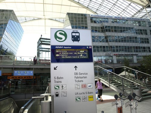 Entrance to the S-Bahn at the MAC Forum; CC image from Jeromyu on Flickr.