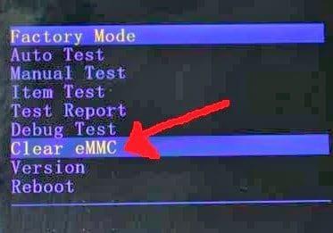 tablet bq Elcano factory mode eMMC