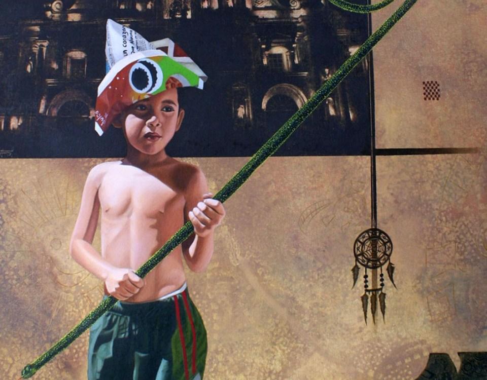 El Recolector - serie ciudades sumergidas - Alex Cuchilla - El Salvador