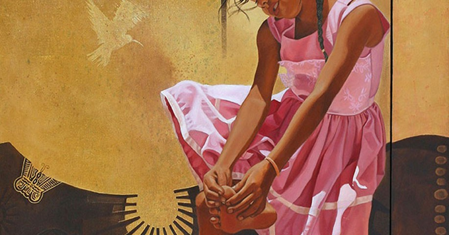 Karlita (políptico) - Alex Cuchilla - El Salvador