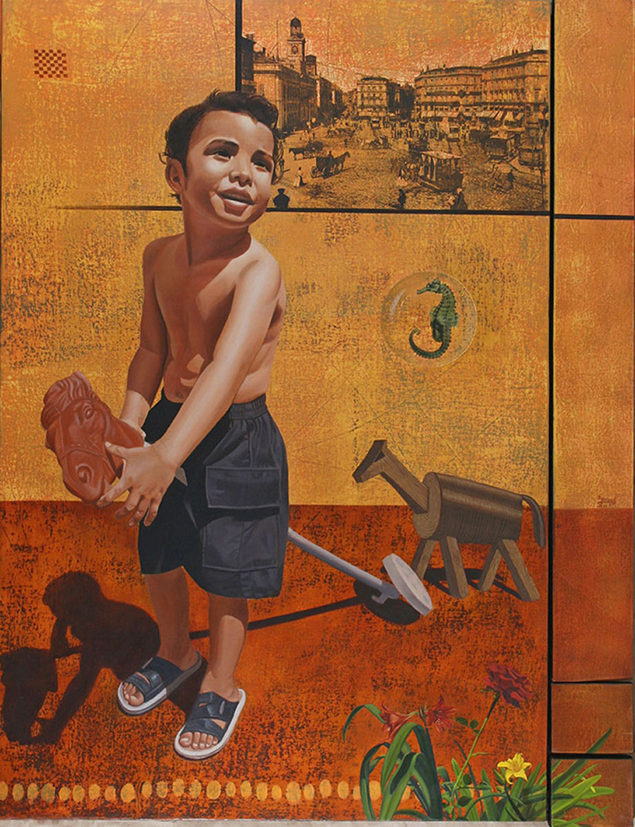 La Pradera (políptico) - Alex Cuchilla - El Salvador