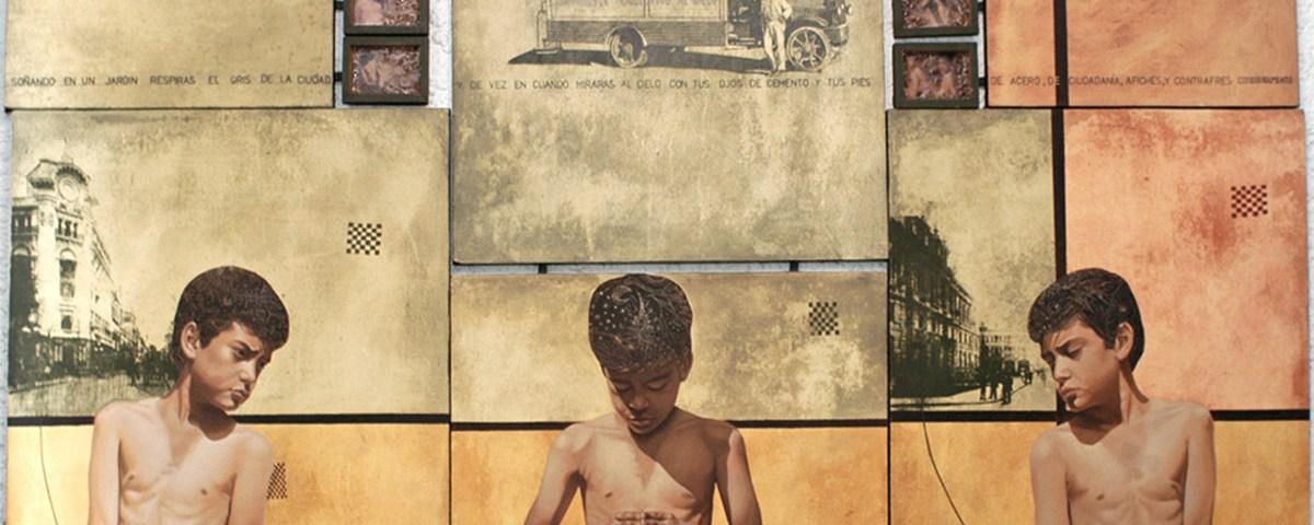 Ser urbano (políptico) - Alex Cuchilla - El Salvador