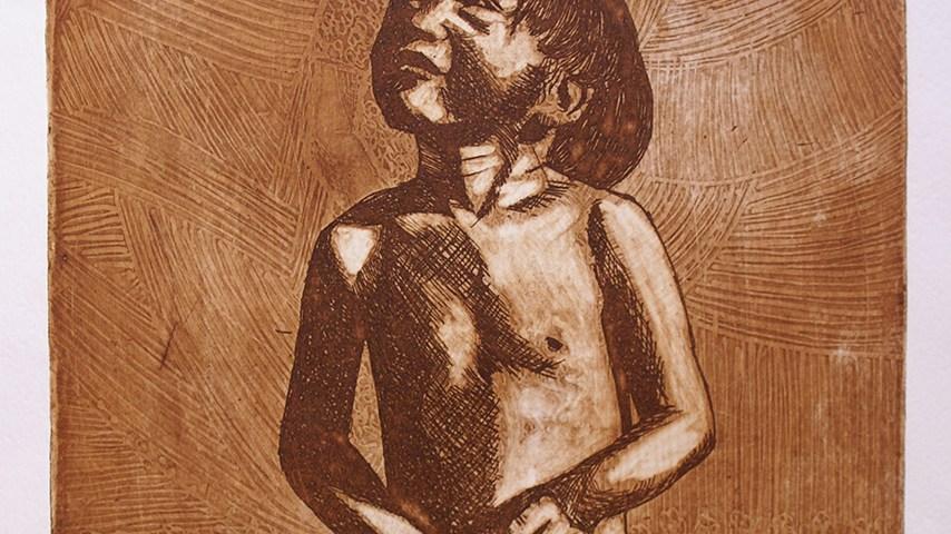 La petición (Grabado) - Alex Cuchilla - El Salvador