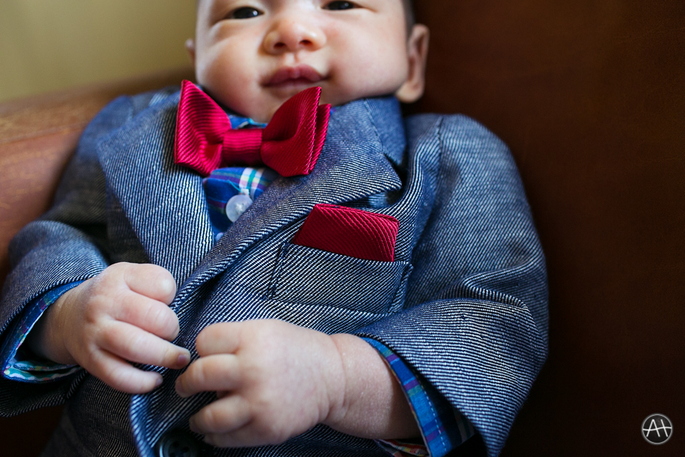 dressed up Baby Declan