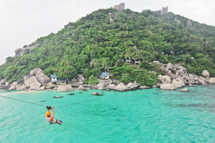 Ziplining on Koh Nang Yuan