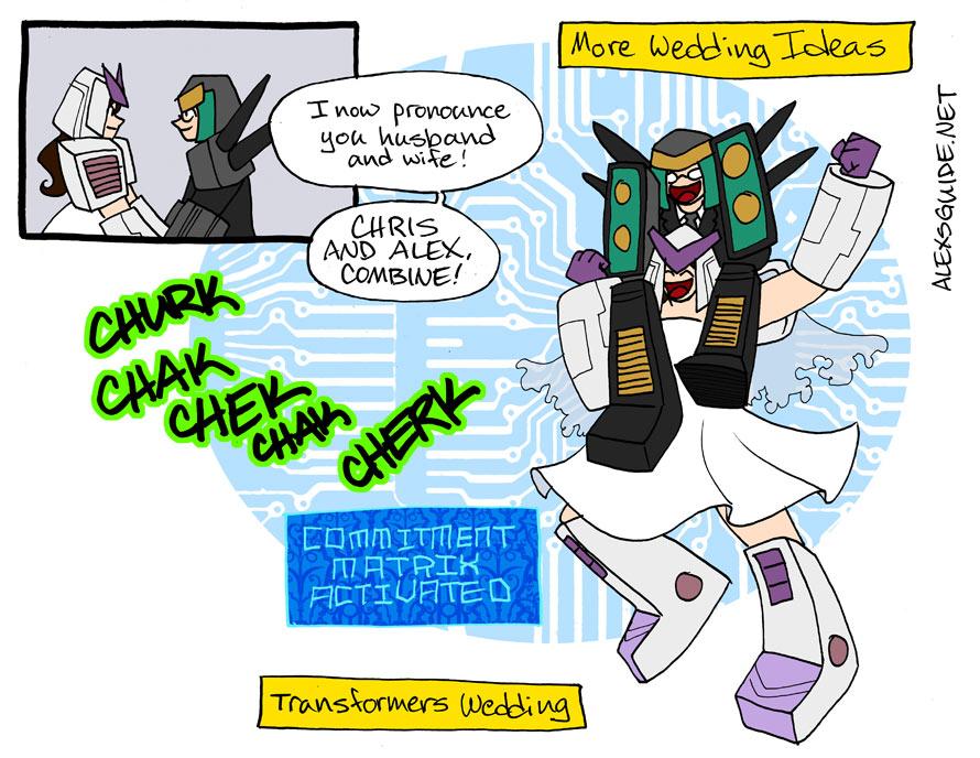 Transformers Wedding