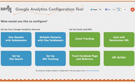 Raven Google Analytics Configuration Tool