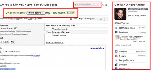 Gmail Rapportive - SEO Tool