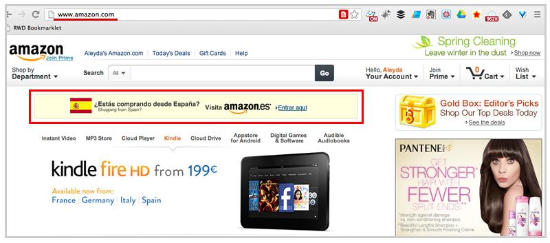 Amazon Language Suggestion