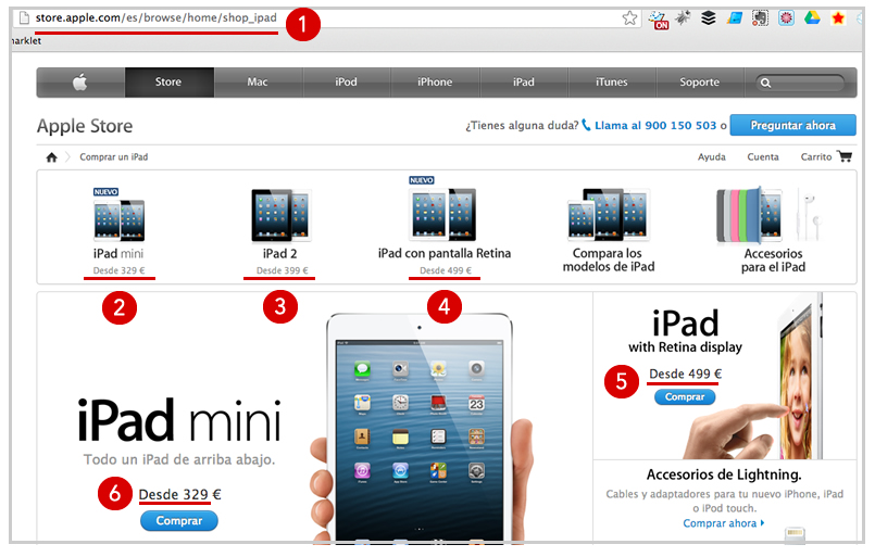Spain Apple Store Prices in Euros