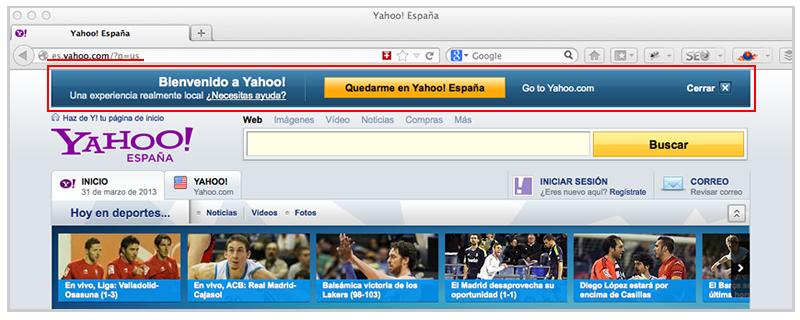 Yahoo Switch Spanish Version