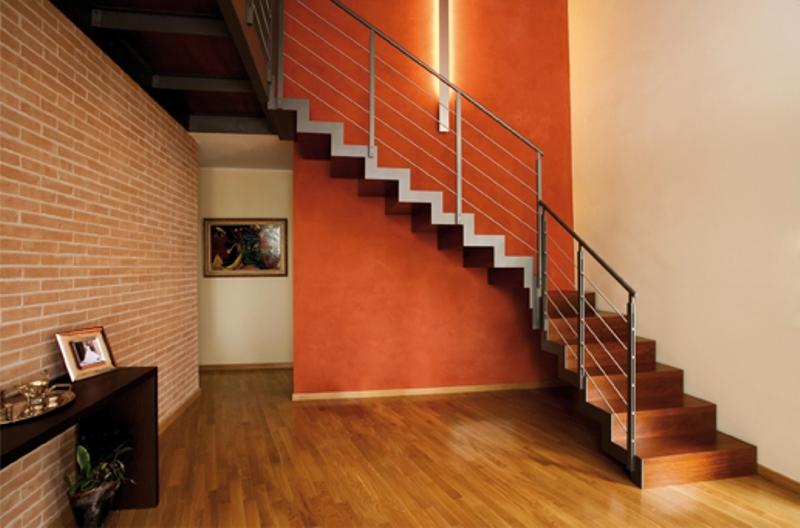 Scale in ferro e legno per interni elite srtike full - Scale per interni in legno prezzi ...