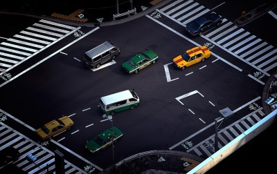 Toy taxis, Roppongi