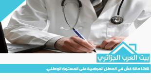 1.268 حالة غش في العطل المرضية على المستوى الوطني.