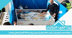 شركة مصر للطيران تنقل حالة مرضية يصل وزنها 500 كغم للعلاج بالهند