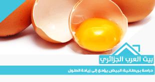 دراسة بريطانية: البيض يؤدي إلى زيادة الطول