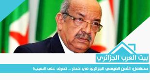 مساهل: الأمن القومي الجزائري في خطر .. تعرف على السبب!