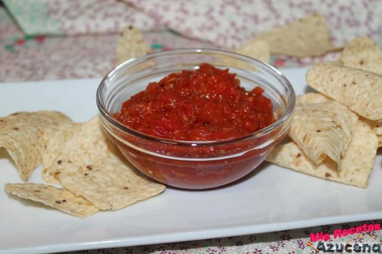 Salsa de tomate para nachos