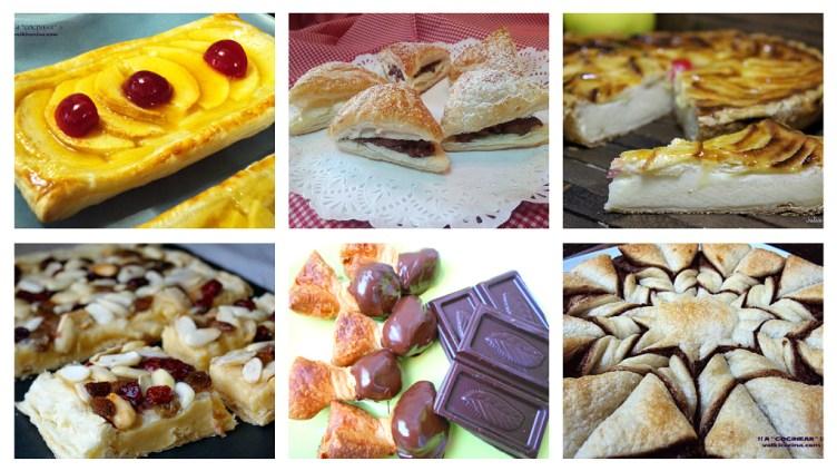 6 recetas dulces con hojaldre