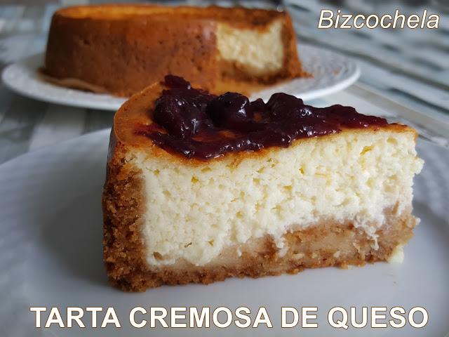 tarta cremosa de queso al horno