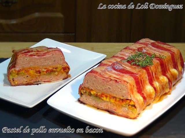 96-944 Pastel de pollo envuelto en bacon (panceta o tocino ahumado)