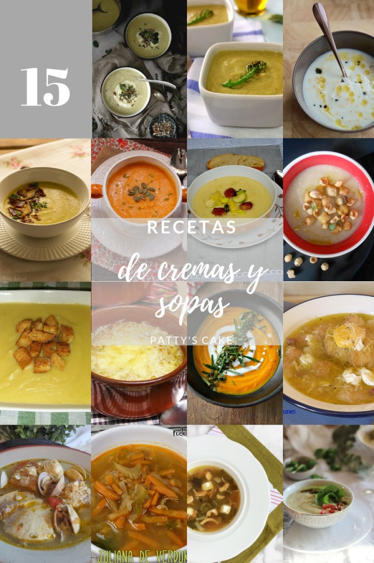 15 recetas de sopas y cremas