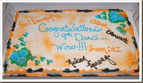 La torta DKI per GM Bowman e GM Stewart