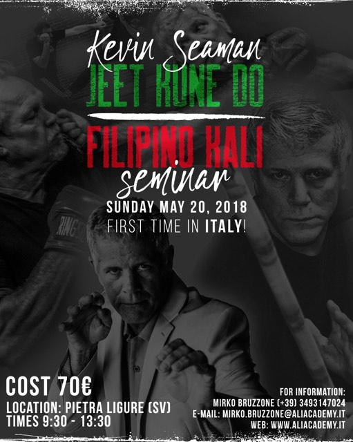 Sifu Kevin Seaman 2018 - Alia Academy - First time in Italy
