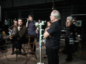 Zach Richter in the director's chair. Photo courtesy ABC News.