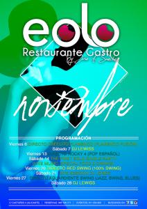 Eolo Restaurante. Agenda Noviembre @ Eolo  | Alacant | Comunidad Valenciana | España