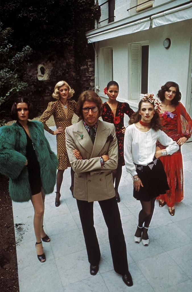 Yves Saint Laurent & Models 1971