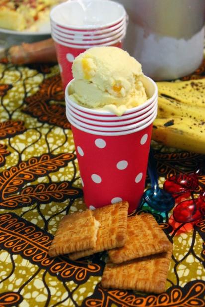 yaourt glacé à la mangue