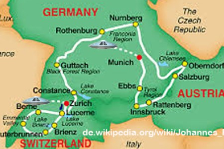 getr germany austria switzerland map