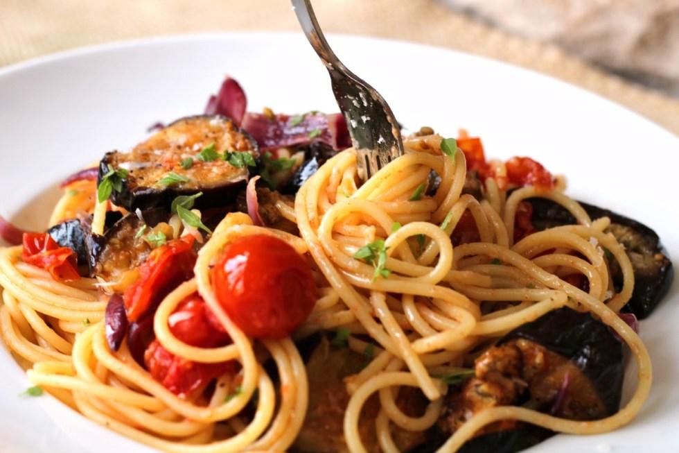 aubergine pasta