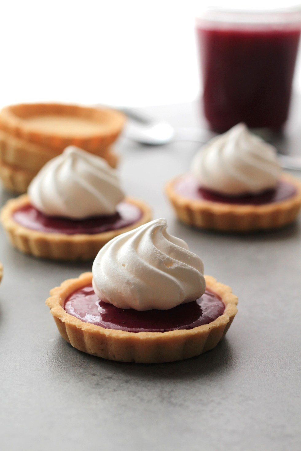 These hibiscus tarts are the perfect dinner party dessert. Make ahead