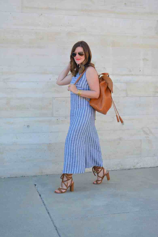 Stripe Linen Maxi Dress A Lily Love Affair
