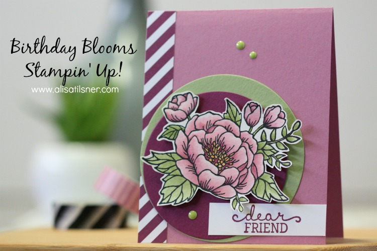 Stampin' Up! Birthday Blooms