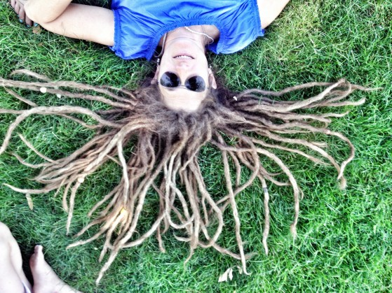 crazy dread photo, dread head, girl with dreads, in the pipeline