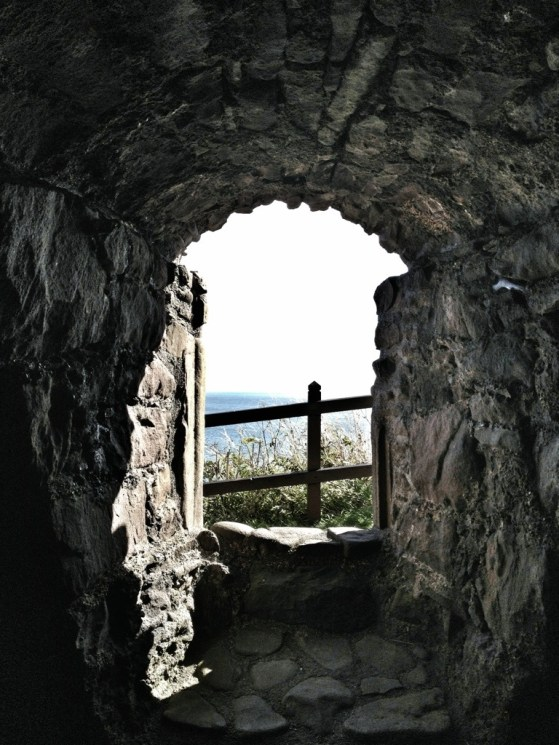 Dunnottar Castle, Stonehaven, Scotland, United Kingdom, Window to the sea