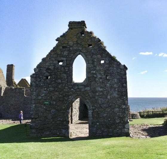 Dunnottar Castle, Stonehaven, Scotland, United Kingdom, Chapel Ruins