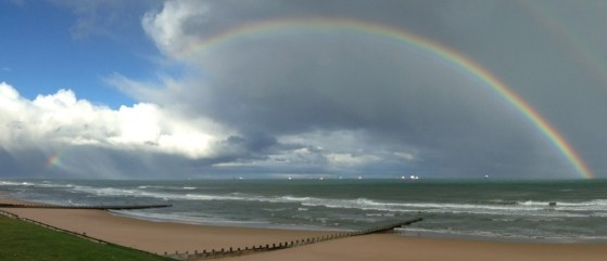 The North Sea Walk, Rainbow, Double Rainbow, Storms, Scotland