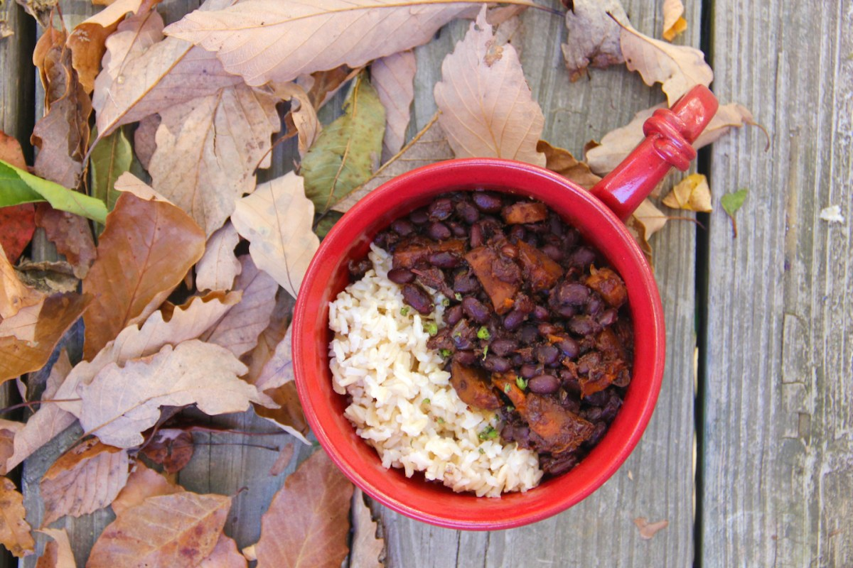 Sweet and Spicy Black Beans and Rice
