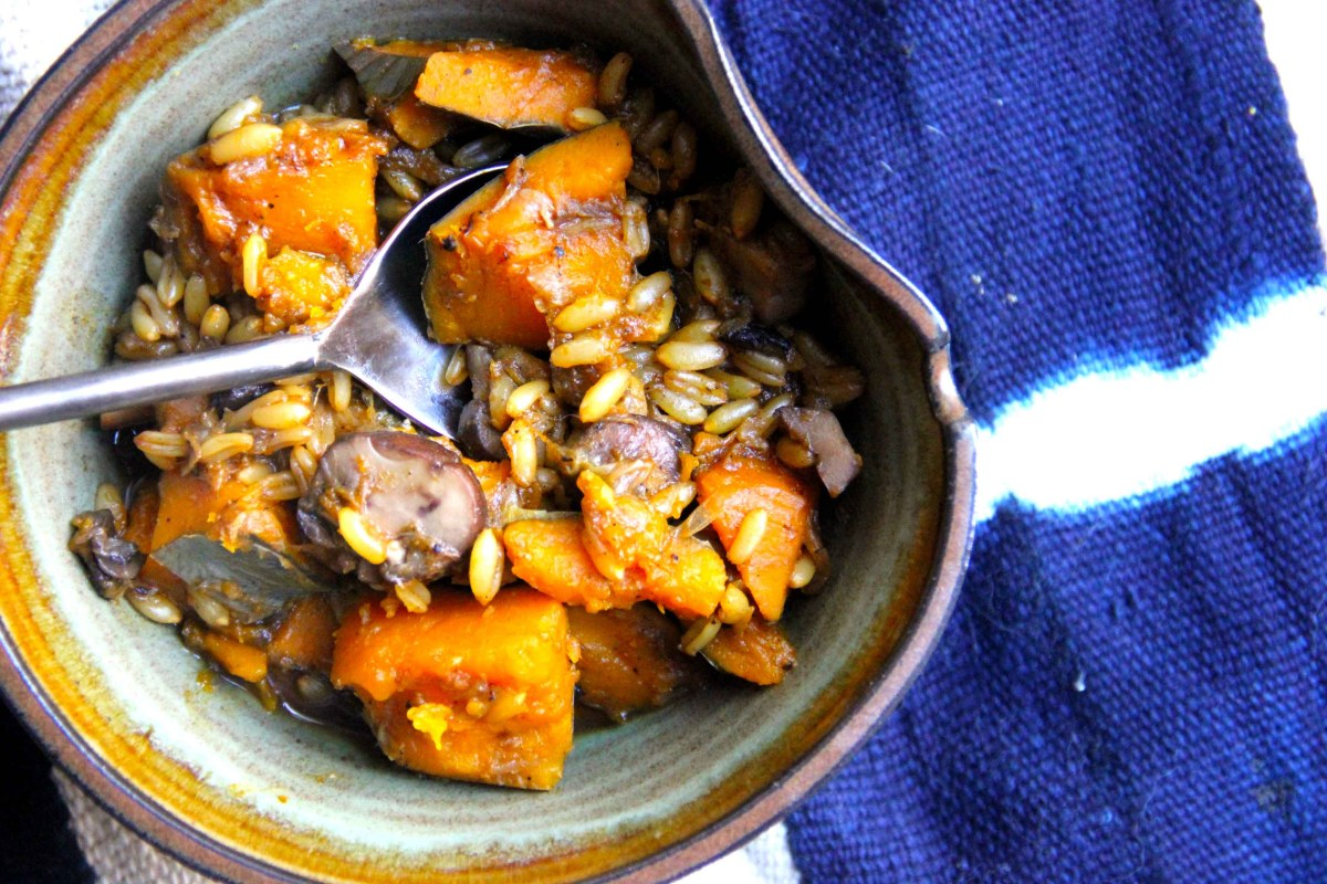 Hearty Black Garlic and Kabocha Stew
