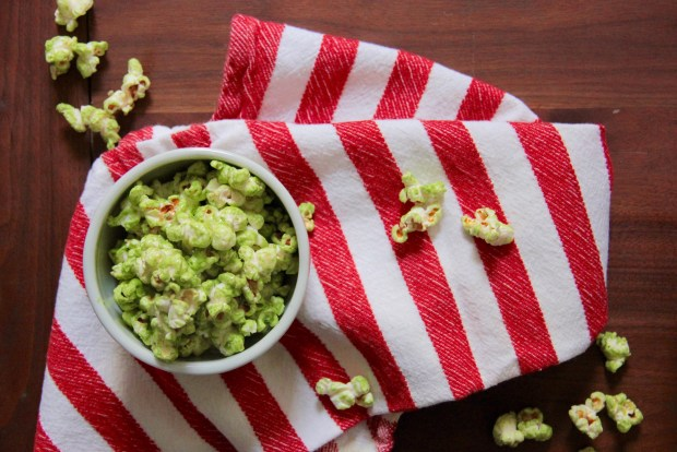 White Chocolate Popcorn with Matcha