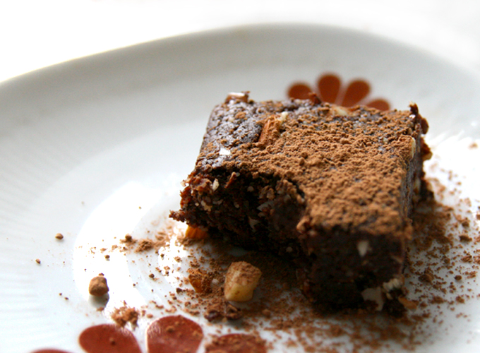 the raw brownie