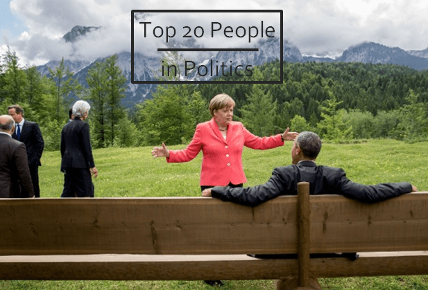 Top 20 People in Politics, 2015