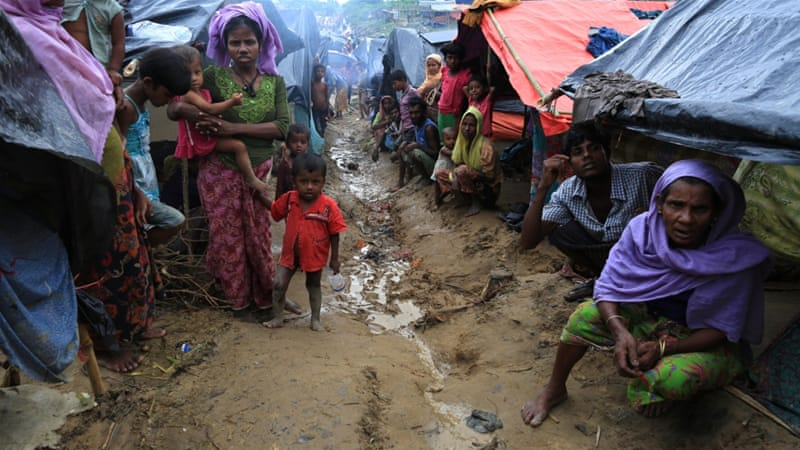 Rohingya refugees are living in squalor in camps in Bangladesh [Showkat Shafi/Al Jazeera]