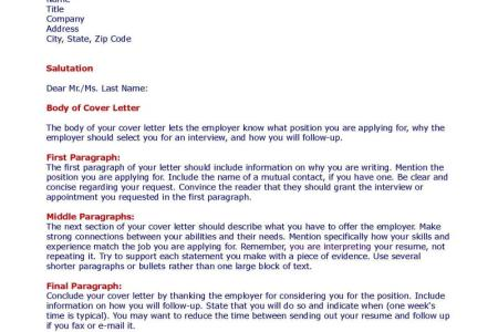 cover letter samples - What Do I Include In A Cover Letter