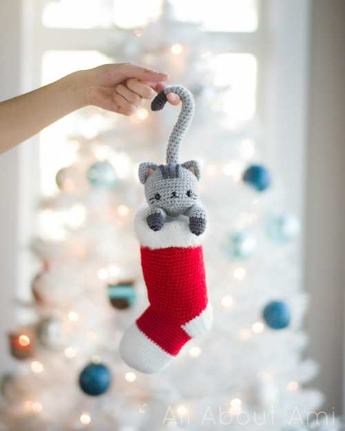 Medium Of Cat Christmas Stockings
