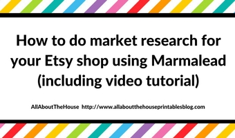 How to do market research for your Etsy shop or online business using Marmalead (review includes video tutorial)